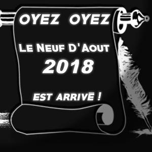 LE NEUF DE AOUT 2018